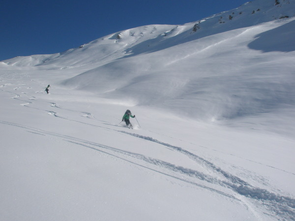 First tracks to Moiry