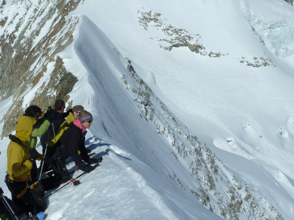 On the Arete du blanc