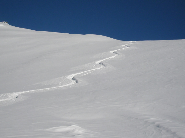 blue skies and powder in Arolla