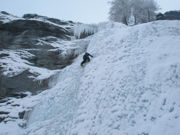 The Via Ferrata ice climb