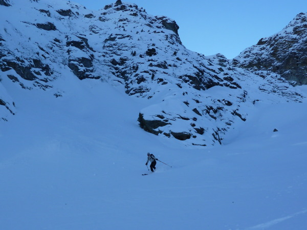Great skiing below les Ignes