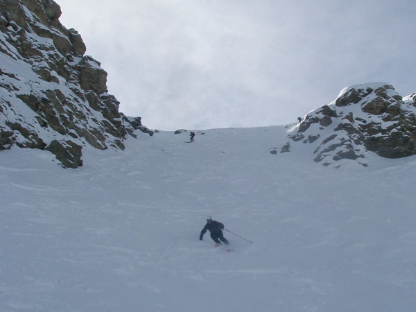 Chamois couloir, Zinal